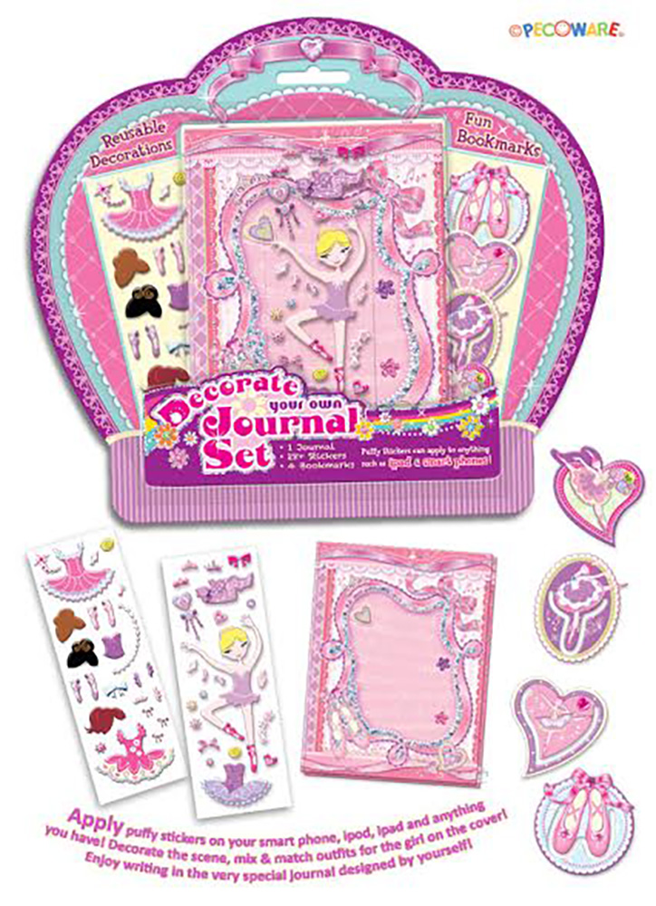 Decorate Your Own Journal Little Dancer with Stickers Gift